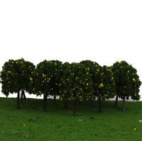 20 arbres fruitiers en plastique jaune modèle train chemin de fer parc