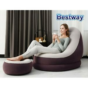 Bestway Inflatable Air Chair Seat Couch Lazy Sofa Lounge Blow Up Ottoman