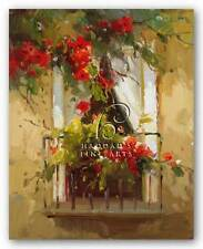 FLORAL ART PRINT Romantic Window I Calvin Stephens