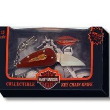 ORIGINAL BOX OF 6!!!!!HARLEY DAVIDSON COLLECTIBLE FLAME KNIFE/KEY CHAIN NEW