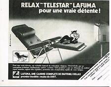 Publicité Advertising 1979 Le fauteuil Relax Lafuma