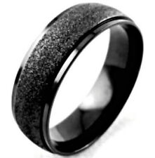 Finish, size 11 - in Gift Box Black Plated 8mm Titanium Band Ring with Brushed