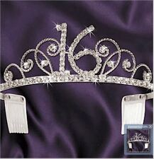 Sweet 16 Tiara, with the rhinestones in the shape of a 16. Party wearables