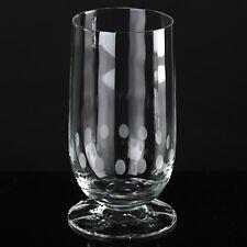 1 Fußbecher Dots Linsen Punkte Schliff Gravur Vintage Becher Wasser Glas ~ 60er
