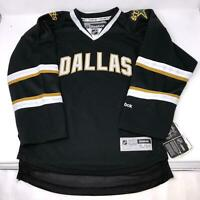 NWT NHL Black Dallas Stars Stitched Jersey Youth Size S/M