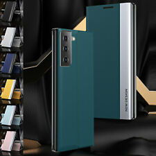 For Samsung Galaxy Note 9 10 20 S21 Magnetic Shockproof Leather Flip Case Cover