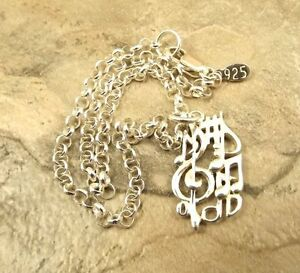 Sterling Silver Treble Clef & Music Notes Charm on Sterling Rolo Bracelet - 1144