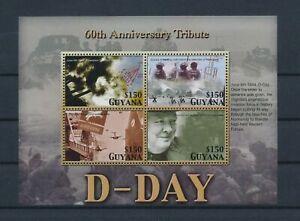 LO40344 Guyana anniversary D-Day good sheet MNH