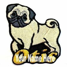 Pug Dog Custom Iron-on Patch With Name Personalized Free