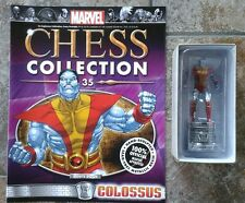 Marvel Chess Collection #35 Colossus White Rook Resin Figure & Magazine