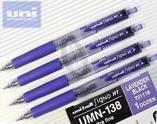 free ship 4pcs UNI-BALL Signo RT UMN-138 Roller Ball pen 0.38 LAVENDER BLACK ink