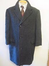 "Genuine Harris Tweed Grey Coat Size L 44"" Short Euro 54 Short"