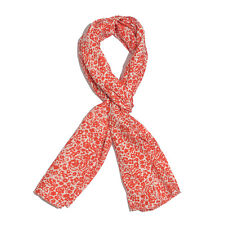 Red Floral Print 100% Natural Bamboo Fabric Scarf (80x30 in) Brand New  #S123
