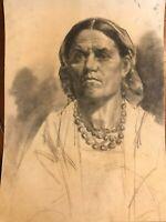 Portrait & Dessin & Art & Profil & XIX ème Siècle & Femme & Crayon & Visage