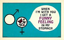 """Vintage 1950-60's Comic, """"When I'm With You I Get A Funny Feeling In My...."""" PC"""
