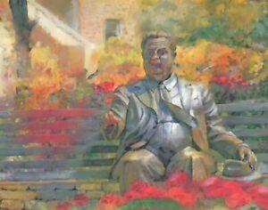 PRINT Herman B Wells Statue IU Indiana University Bloomington Wall Art Poster