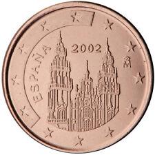 Monnaie 1,2,5 centimes cent cts euro Espagne 2011, neuves du rouleau, UNC