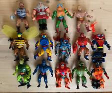 Vintage Mattel He-Man MOTU Master Of Universe  Action Figure Lot of 16 1981-1984