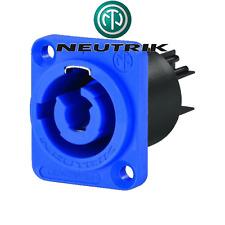 Fiche POWERCON Embase Secteur 3 Points Bleu ENTREE SECTEUR  NEUTRIK NAC3MPA