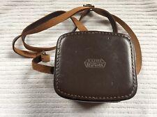 Vintage Leitz Wetzlar Rockleigh #1 Hard Leather Case c/w Strap