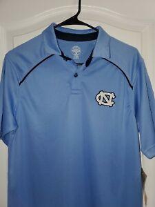 New! North Carolina Tar Heels Men's Medium Polo Golf Shirt Rivalry Thread 91 NWT