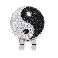 Durable Yin Yang Magnetic Hat Clip Golf Ball Marker Clip On Golf Cap Visor