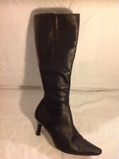 Dorothy Perkins Black Knee High Leather Boots Size 5