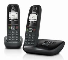 Siemens Gigaset AS405A Twin Duo Cordless Telephone With Answering Machine Black