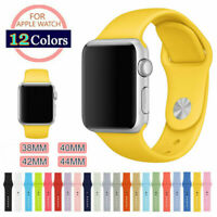 US Silicone Sport Replacement Band Strap For Apple Watch Series 3 2 1 38mm/42mm