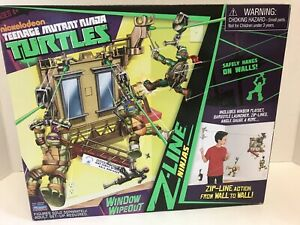 Nickelodeon Teenage Mutant Ninja Turtles Z-Line Window Wipeout Playset Gift Toy