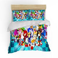 Sonic the Hedgehog Single Bed Quilt/Duvet/Doona Cover Set Bedding Sets Linen