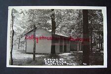 Cabins at CAMP ALOHA Montague, Michigan RPPC postcard
