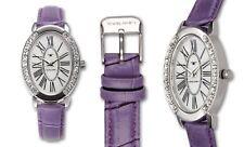 Tavan 1623L Jeanne Crystal Purple Band Mother-of-Pear Women's Watch GREAT GIFT