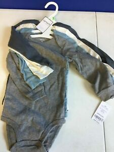 Carters Baby Boys 4-Pack Long Sleeve Original Bodysuits Size 24 Months