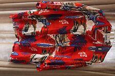 Vintage Cordinal Original Classics Hawaiian Shirt Surfboard Palm Trees Red Xl