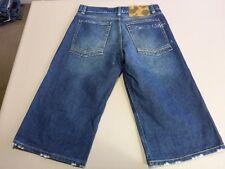 056 MENS EX-COND FRESHJIVE STR8 LEG BLUE FADE DENIM SHORTS 32 $90.