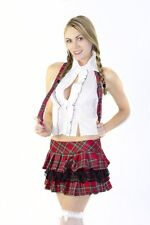 Red Plaid Sexy Naughty School Girl Outfit Adult Halloween Costume