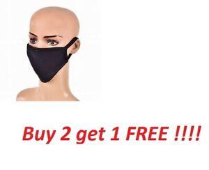 Face Mask Cotton Washable Virus Reusable Adult Unisex Triple Layer Multi Colour