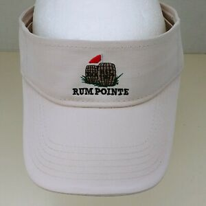 Rum Pointe Golf Visor Hat Berlin Maryland Adjustable Beige One Size Seaside