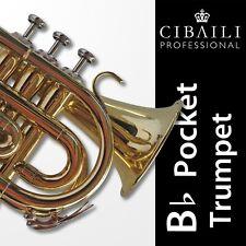 CIBAILI Bb POCKET TRUMPET • High Quality • Brand New • With Case •