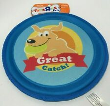TOY R US Dog Great Catch! 10-inch Blue Nylon Flyer Disc Flying Frisbee  NEW TAG