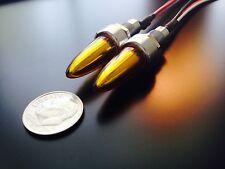 BULLET SPIKE LICENSE PLATE FASTENER BOLTS LED - TURN SIGNAL & RUN LIGHTS (AMBER)