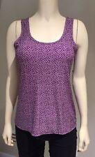 ALFANI Intimates Slinky Sleeveless Purple Mums Soft Sleep Top NWT XSmall