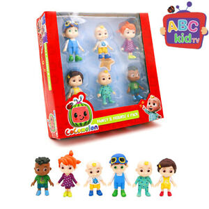 Cocomelon Family & Friends 6pcs Action Figures Pack Toy Dolls box or opp bag