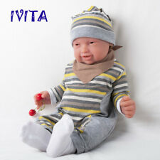 IVITA 23'' Adorable Reborn Baby Girl Doll Full Silicone Take a Pacifier 5200g US