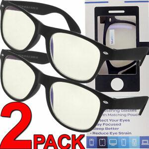 Blue Light Glasses Blue Block Filtering Gaming Computer Eye Strain Protection