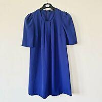 Women's Royal Blue Short Sleeved Shift Dress Size 10
