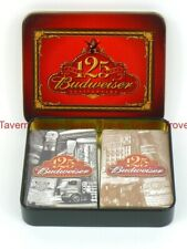 Mib 2001 Budweiser Beer Playing Card Set 125th Anniversary in tin