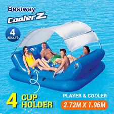 New Bestway Vinyl Inflatable Floating Island Pool Beach Sunshade Float 43134