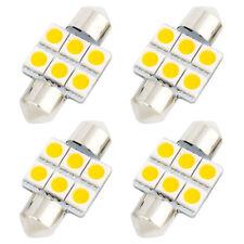4Pcs 31mm 5050 SMD 6 LED Warm White Festoon Dome Light DE3022 Internal  N8L2
